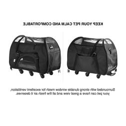 WPS Airline Approved Removable Wheeled Pet Carrier for Small