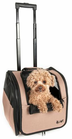 Pet Life Airline Approved Travel Pet Dog Cat Carrier with Wh