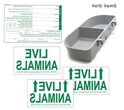 Standard Airline Kennel Travel Kit - Small Food Water Tray -