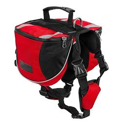 Dog Backpack Hiking Gear for Dogs Camping Dog Pack Saddle Ba