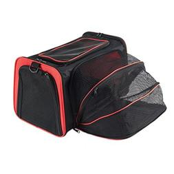 Expandable Travel Dog Carrier with Fleece Mat, Most Airline