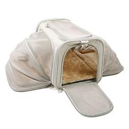 Expandable Pet Carrier Luxury Airline Approved For Dogs Cats