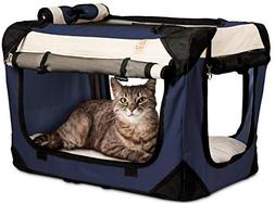 PetLuv Happy Cat Premium Soft Sided Foldable Top & Side Load