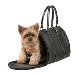 PETOTE®  JL Duffel Black Quilted Luxe - Regular Size Dog Ca