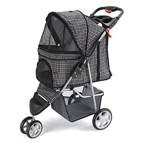 Paws & Pals 3 Wheeler Elite Jogger Pet Stroller Cat/Dog Easy