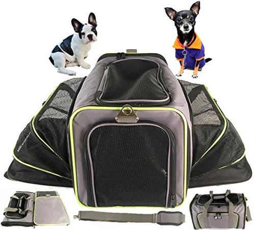 PETS - Expandable Soft Animal Carriers - Soft-Sided Air Travel - for or Dog and