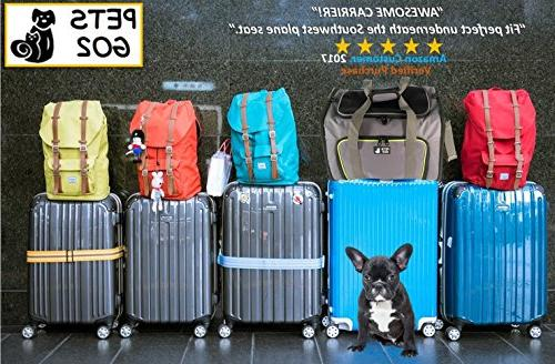 PETS GO2 for Dogs - Expandable Animal Carriers - Portable Travel Bag for or Medium Dog Cat