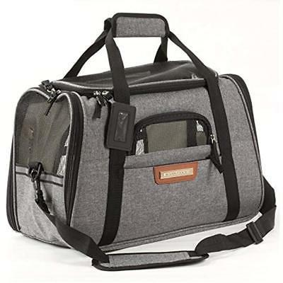 Pawfect Pets Pet Travel Carrier, Soft-Sided with Two Pet Mat