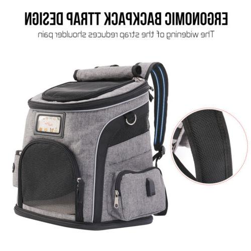 Deluxe Dog Carrier Backpack Dogs Cats Ventilated Breathable Bag