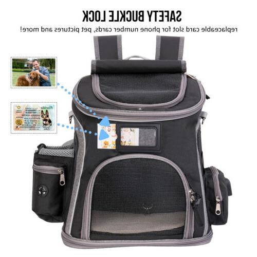 Deluxe Dog Carrier Backpack Dogs Breathable Bag