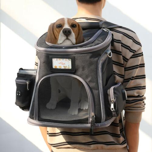 deluxe dog carrier backpack dogs cats ventilated