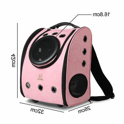 Dog Leather Pet Carrier Capsule Breathable