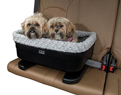 Pet Gear Medium Dog Raised Car Seat carrier in Black Fog wit