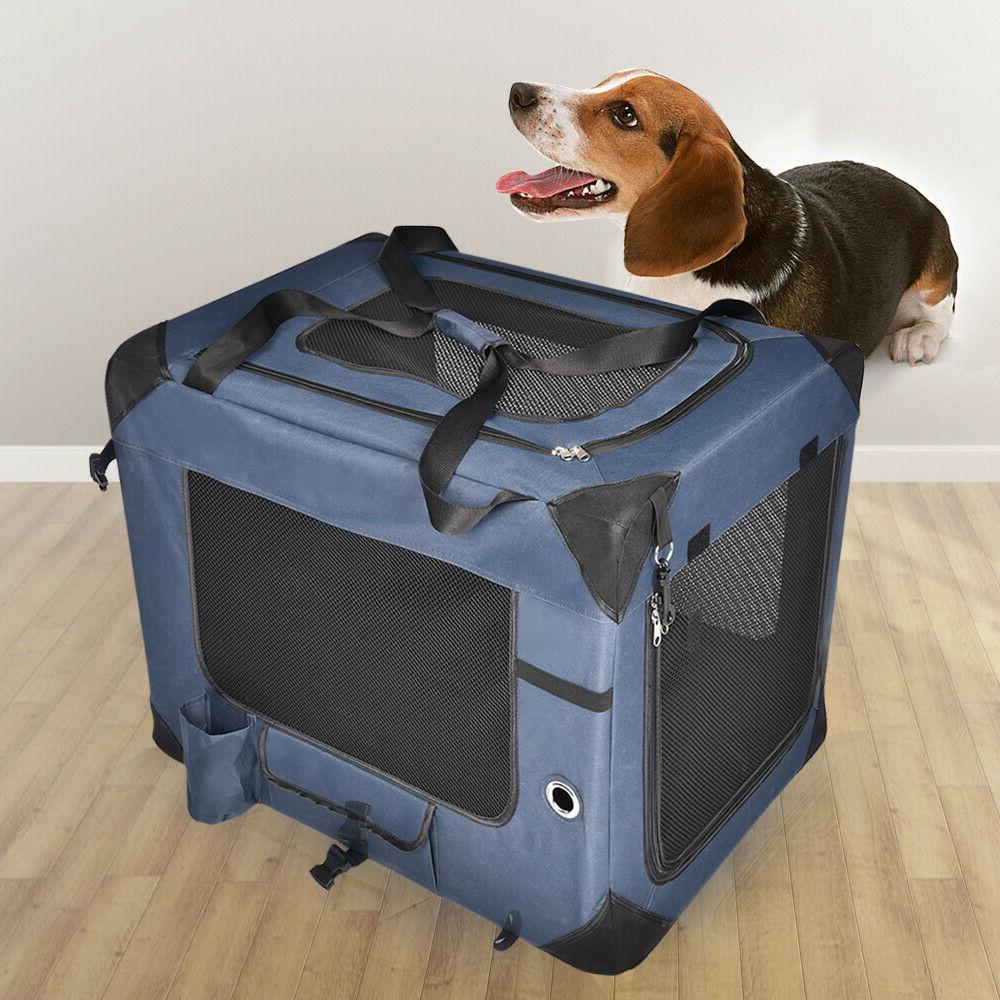 Pet Dog Carrier Bag Crate Breathable Soft Sided Travel Home