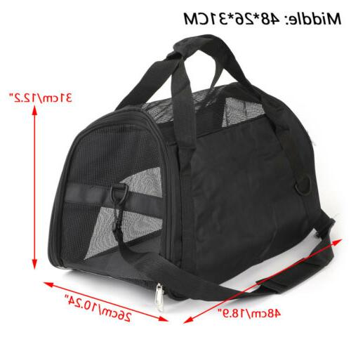 Small Pet Carrier Soft Sided Comfort Bag Travel Case US