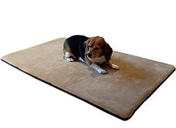Dogbed4less Cool Memory Foam Pet Dog Bed Mat Pillow Topper w