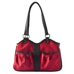 Petote Metro Dog Carrier Bags with 2 Open Pockets, Red, Larg