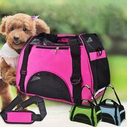 Nylon & Mesh Pet Carrier Soft Sided Cat Dog Comfort Travel T