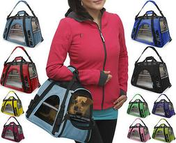 Pet Carrier Soft Sided Cat Dog Comfort Travel Tote Bag Airli