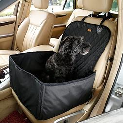 Pettom Pet Bucket Seat Cover Booster Seat 2 in 1 Deluxe Dog&