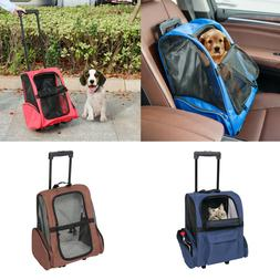 Pet Carrier Dog Cat Rolling Wheel Luggage Travel Airline App
