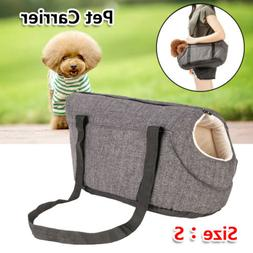 Pet Carrier Soft Sided Puppy Kitten Small Cat Dog Tote Bag T