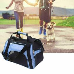 Pet Carrier Soft Sided Small Large Cat Dog Comfort Blue Trav