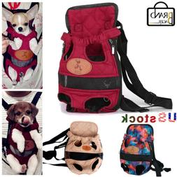 Pet Dog Carrier Legs Out Backpack Adjustable Front Cats Pets