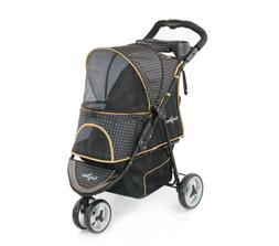 Gen7Pets Pet Dog Cat Carriage Stroller in Gold Nugget Promen