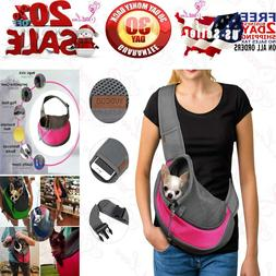 Pet Dog Sling Carrier Breathable Mesh Travel Safe Bag Carrie