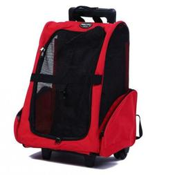 Pettom Pet Rolling Carrier Backpack Dog Small-Hold pet up to