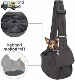 Pet Sling Carrier Dog Papoose Hand Free Puppy Cat Carry Bag