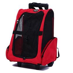 Meiying Roll Around 4-in-1 Pet Carrier Travel Backpack for D