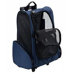 Pettom Roll Around 4-in-1 Pet Carrier Travel Backpack for Do