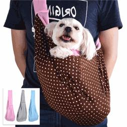 Small Pet Dog Cat Carrier Shoulder Sling Bag Tote Outdoor Tr