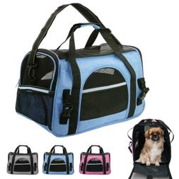 Soft Sided Cat Dog Comfort Travel Tote Bag Pet Carrier Shoul