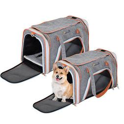 Soft Sided Dog Crate Pet Carrier Foldable Training Kennel Po