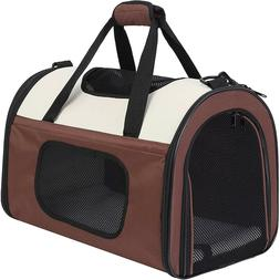 Soft-Sided Kennel Pet Carrier for Small Dogs Cats Puppy Airl