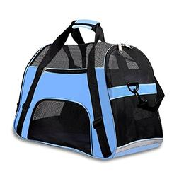 "Soft Sided Pet Carrier for Dogs Cats Puppies 17""L x 8""W x 10"