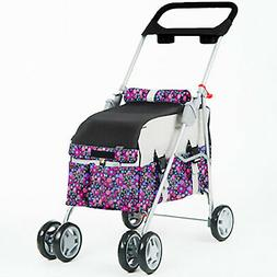 Yellow 3 in 1 Pet Stroller/Carrier/House